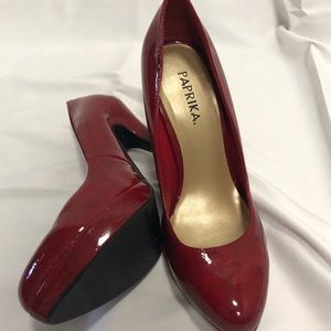 Shoes - Paprika Marbled Red Pumps